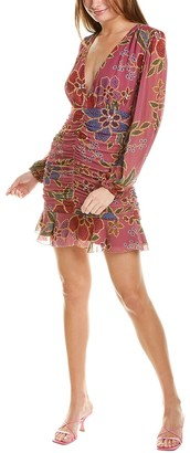 Farm Rio Floral Sparkle Mini Dress