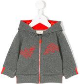Armani Junior logo hooded jacket