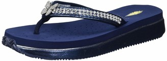 Volatile Women's Gwynne Bling Thong Sandal with Butterfly Ornament Navy