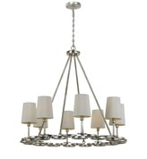 The Well Appointed House Crystorama by Libby Langdon Graham 8 Light Antique Silver Chandelier