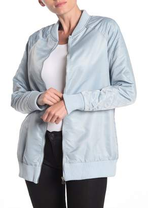 Love, Fire Oversized Quilted Bomber Jacket
