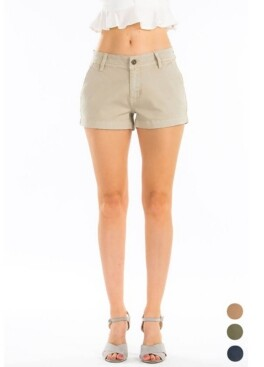 Thumbnail for your product : Kancan Women's Mid Rise Chino Shorts