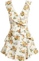 Zimmermann Golden Flutter floral-print linen dress
