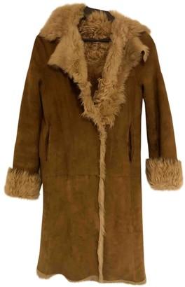 Joseph Beige Mongolian Lamb Coat for Women