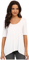 Three Dots 1/2 Sleeve Relaxed High Low Tee