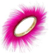 Betsey Johnson xox Trolls Faux-Fur Bangle Bracelet, Only at Macy's