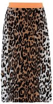 Stella McCartney cheetah jacquard skirt