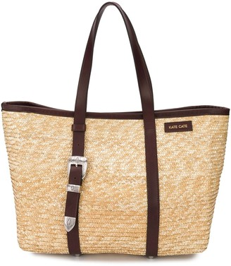 Kate Cate Woven Straw Tote