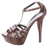 Fendi Embossed Platform Sandals