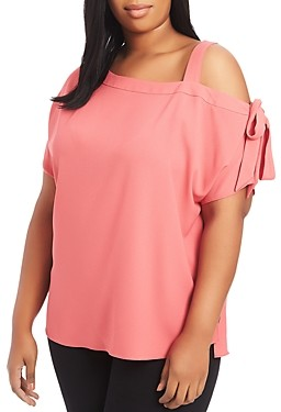 1.state Plus Cold-Shoulder Top