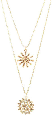 Bling Bar Girasole Double Pendant Necklace