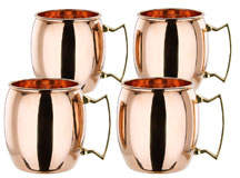 Old Dutch International Solid Copper Moscow Mule Mugs, Set of 4