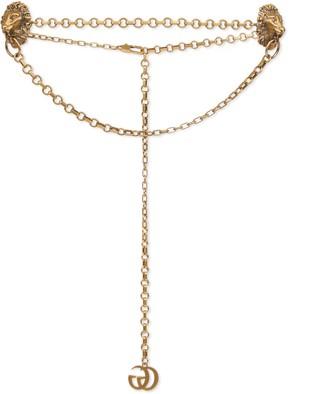 Gucci Chain belt with lion heads