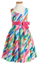 Iris & Ivy Toddler Girl's Paintstroke Print Shantung Party Dress