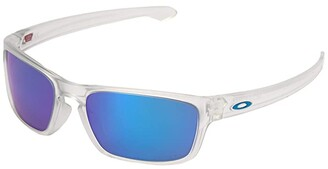 Oakley Sliver Stealth (Matte Clear w/ Prizm Sapphire) Sport Sunglasses