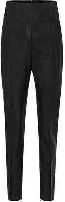 Alexandre Vauthier High-rise skinny cotton-blend pants
