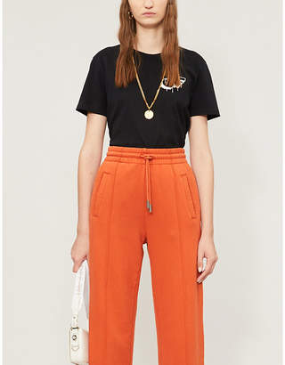 Off-White Markers logo-print stretch-cotton jersey T-shirt