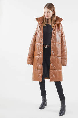 Urban Outfitters Oversized Faux Leather Puffer Coat