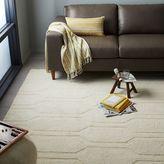 west elm Honeycomb Textured Wool Rug - Ivory