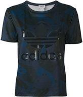 adidas logo print T-shirt - women - Polyester - 38