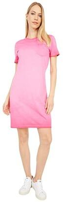 Calvin Klein T-Shirt Dress with Front Pocket (Lipstick) Women's Dress