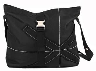 Little Company pf03.15 Power Flower Nappy Bag, Shoulder Bag, Colour: Black (Black)