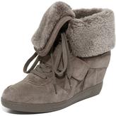 Ash Brendy Shearling Wedge Sneakers