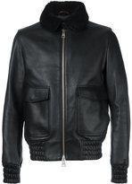 Ami Alexandre Mattiussi shearling collar bomber jacket