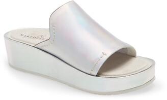 Naked Feet Reno Platform Slide Sandal