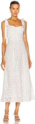 Jonathan Simkhai Bustier Midi Dress in White | FWRD