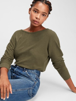 Gap Slub Dolman Ribbed T-Shirt