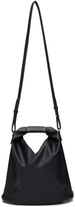 MM6 MAISON MARGIELA Black Faux-Leather Mini Japanese Tote