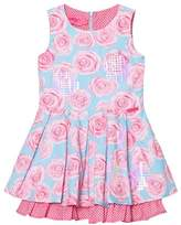 Lelli Kelly Kids Pink and Aqua Rose Print Dress