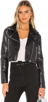 superdown Colette Cropped Moto Jacket