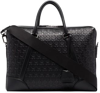 Salvatore Ferragamo Gancini-embossed briefcase bag