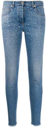 Blumarine rhinestone jeans