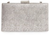 Sondra Roberts Embossed Metallic Box Clutch - Metallic