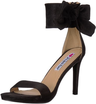 Two Lips Women's Too Dawn Heeled Sandal Black 7.5 M US