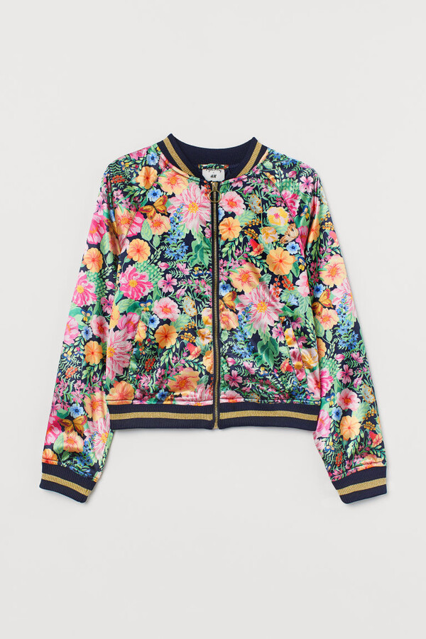 Thumbnail for your product : H&M Satin Bomber Jacket - Blue