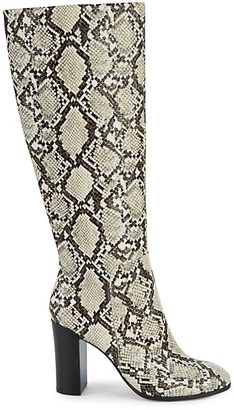 Kenneth Cole New York Jackie Snakeskin-Embossed Knee-High Boots