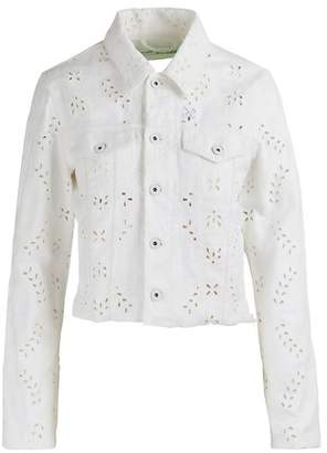 Off-White Off White Embroidered denim jacket