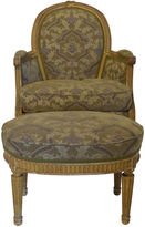 One Kings Lane Vintage 19th-C. French Bergère & Footstool