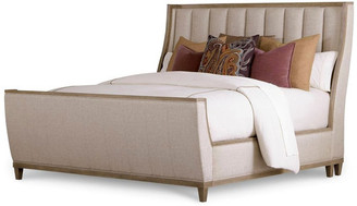 Art Cityscapes Queen Chelsea Uph Shelter Sleigh Bed, Stone 232145-2