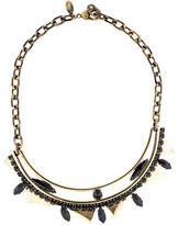 Iosselliani Black Crystal Collar Necklace