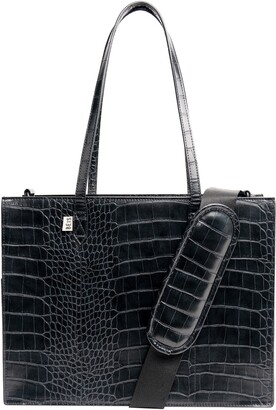 Béis Mini Work Croc Embossed Faux Leather Tote