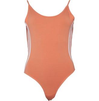 adidas Womens 3-Stripes Cotton Body Semi Coral/White