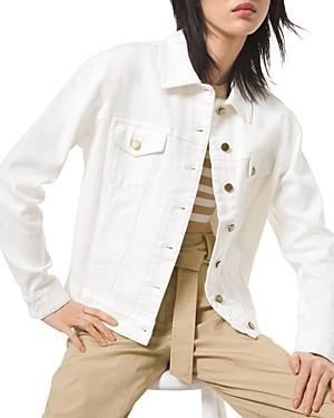 MICHAEL Michael Kors Shrunken Boyfriend Jean Jacket in White