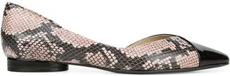 Naturalizer Premium Hayden Snakeskin-Embossed Leather Flats
