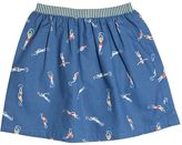 Nice Things Swimmers Printed Cotton Poplin Skirt