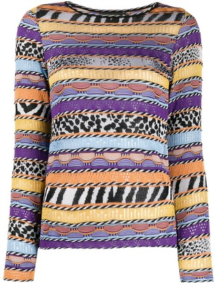 Cecilia Prado Graciosa pattern-mix jumper